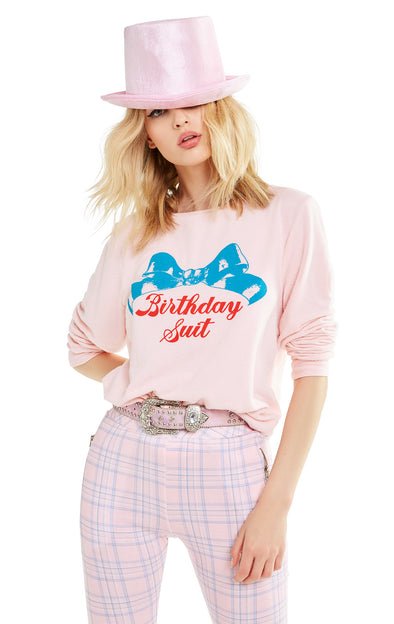 Birthday Suit Baggy Beach Jumper | Romantic