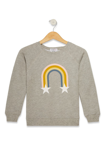 Kids Rainbow Stars Sommers Sweater  | Heather