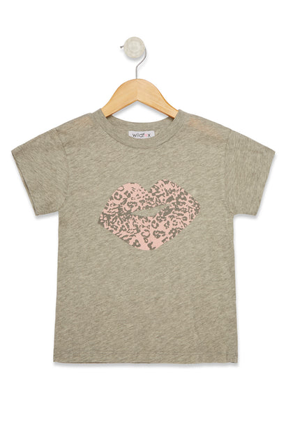 Littlefox Leopard Kiss Tourist Crew | Heather Grey Heather