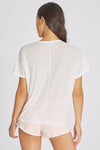 Hands Off Chrissy V-Neck Tee | Vanilla