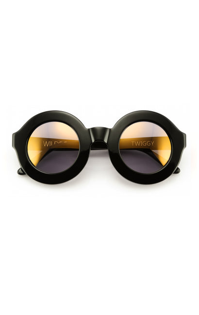 Twiggy Deluxe Sunglasses | Black