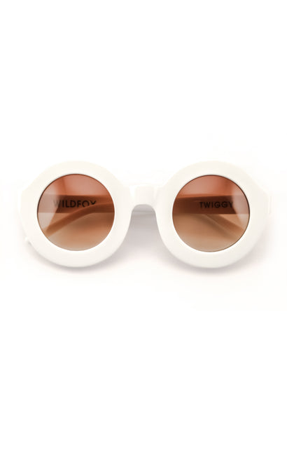 Twiggy Sunglasses | White