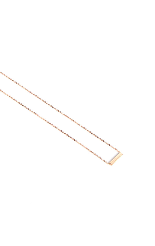 Leenabell 14K Rose Mini Bar Necklace | RG