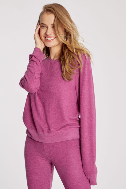Baggy Beach Jumper | Magenta Purple