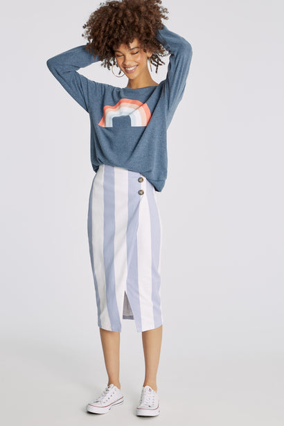 Freedom Rainbow Baggy Beach Jumper | Sail