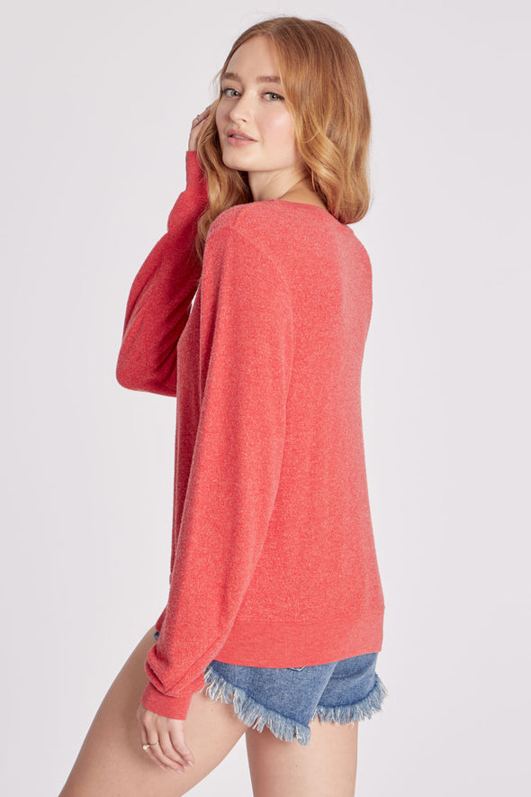 Vote Happy Hour Baggy Beach Jumper | Scarlet