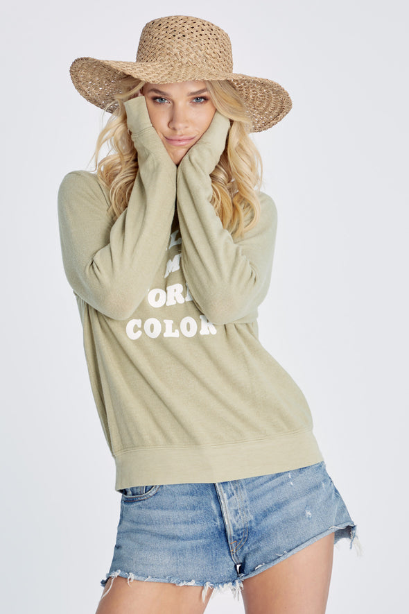 Favorite Color Baggy Beach Jumper | Basil