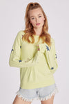 Superstar Raglan Baggy Beach Jumper | Sunny Lime