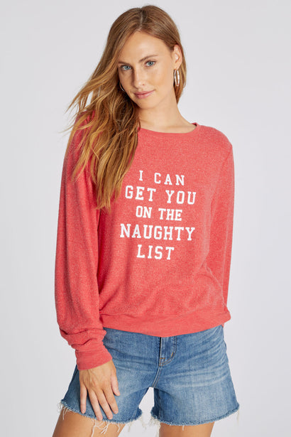 Naughty List Baggy Beach Jumper | Scarlett