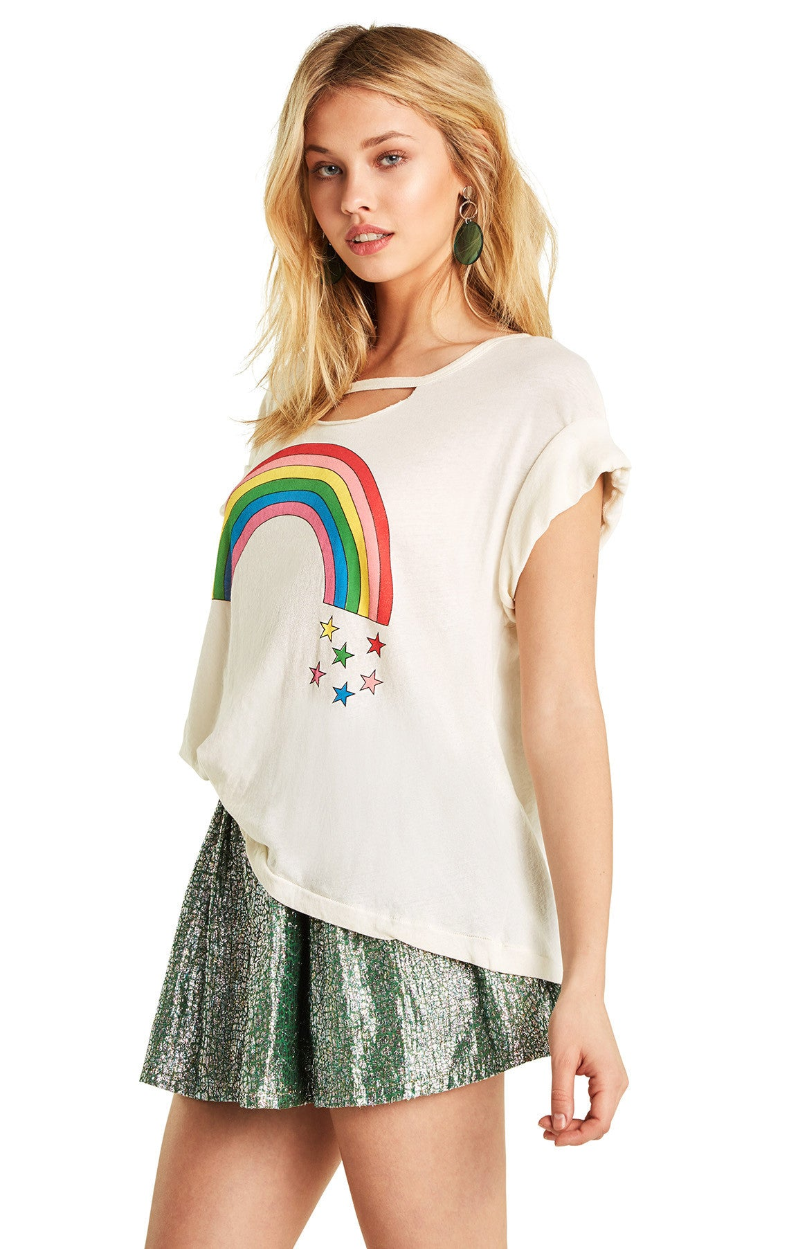 59533b02ab Rainbow Stars Rivo Tee | Vintage Lace – Wildfox Couture