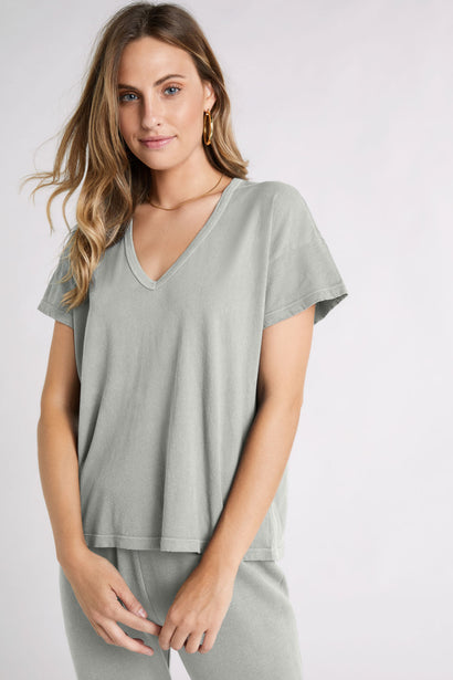 Chrissy V-neck Tee  | Surf