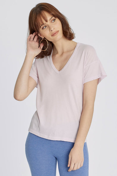 Chrissy V-Neck Tee | Wispy
