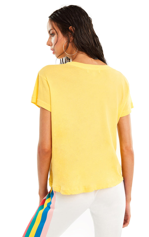 Adios No9 Tee | Pigment Yellow Mango
