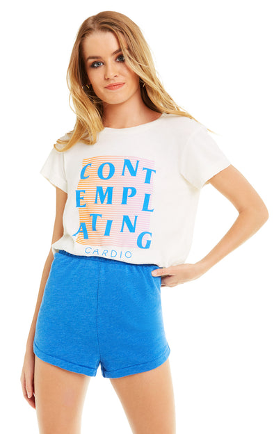 Contemplating Cardio No9 Tee | Vintage Lace