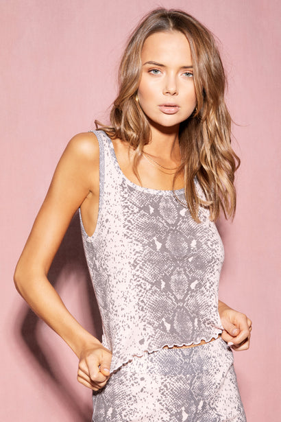 Pink Python Delia Tank  | Multi Colored