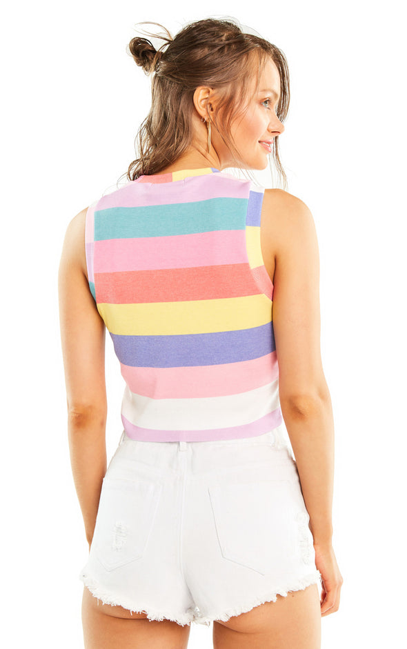 Castaway Stripe Keaton Tank | Multi Colored