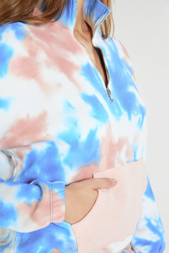 Belleview Sweatshirt  | Bubble Gum Tie Dye