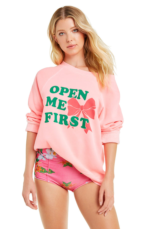 Open me First Sommers Sweater | Neon Sign