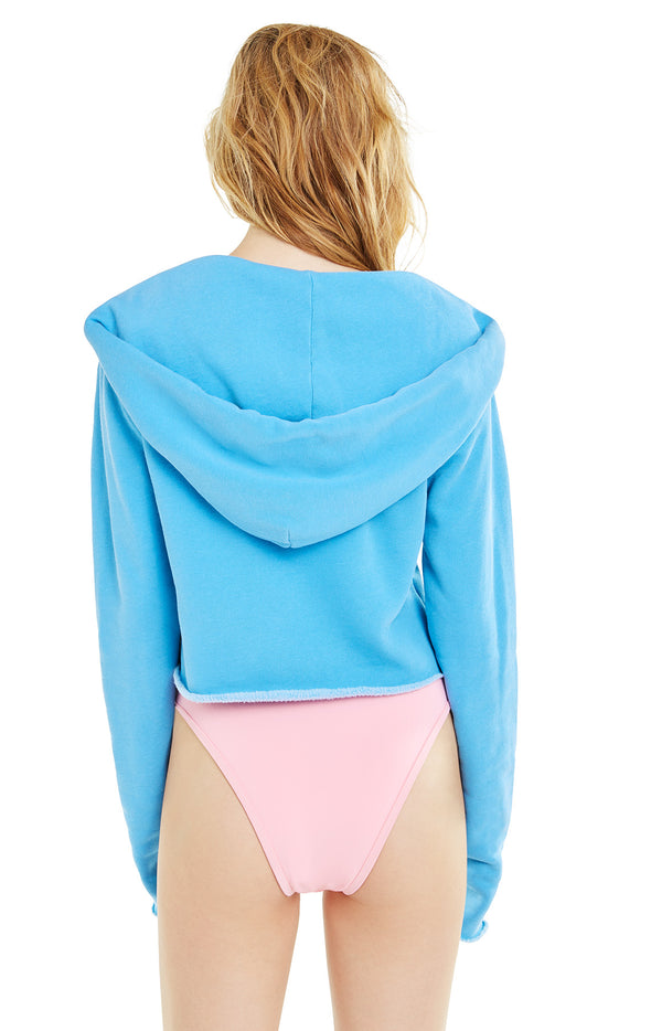 Gym Bunny Ray Hoodie | Pigment Wonderland Blue