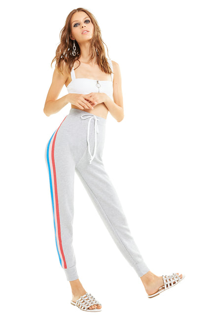 Tri Stripes Jack Jogger | Heather