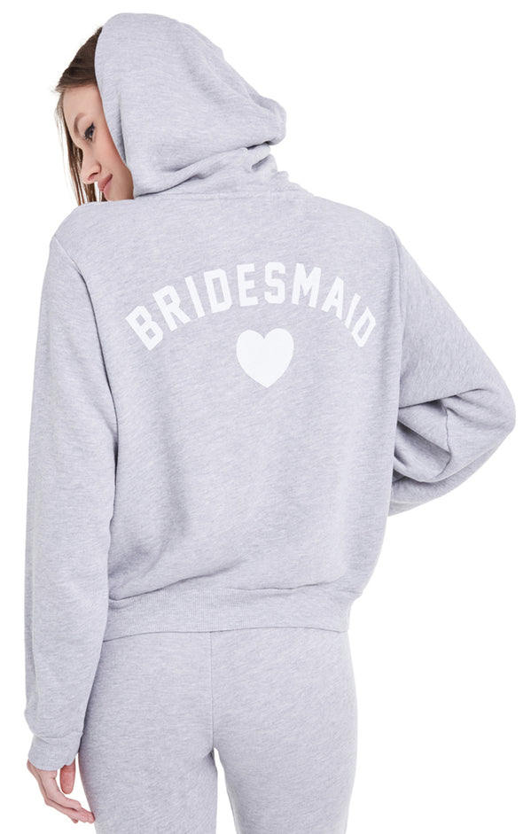 Bridesmaid Regan Zip Hoodie | Heather