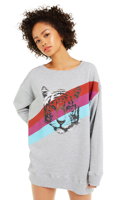 Tiger Stripes Roadtrip Sweater | Heather