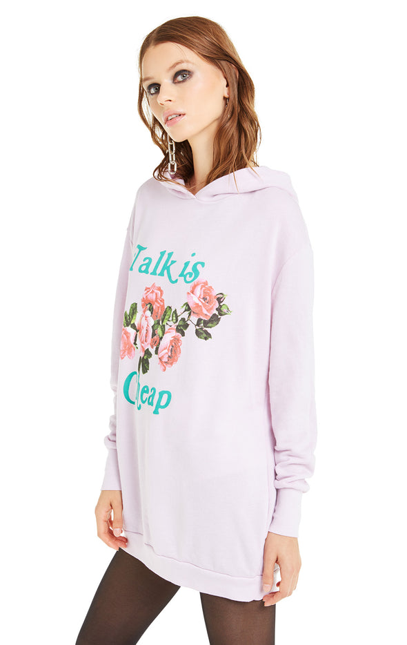 Talk Is Cheap Rebel Hoodie | Primrose