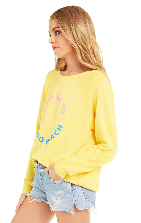 Take Me To The Dog Beach Sommers Sweater | Canary