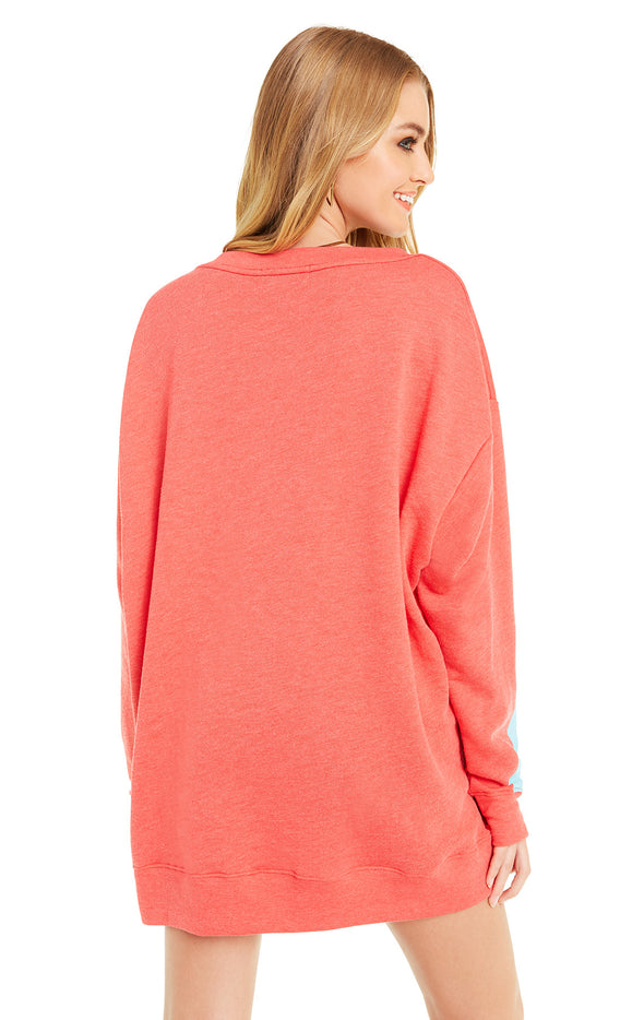 Keep on Sweatin' On Roadtrip Sweater | Crimson