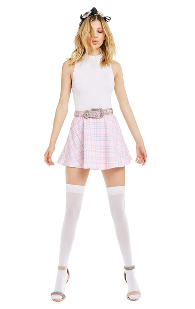 Pastel Plaid Villa Skirt | Multi