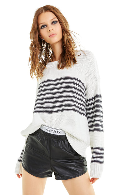 Striped Knox Sweater | Vanilla
