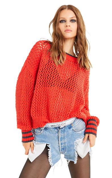 Mila Sweater | Poppy Red