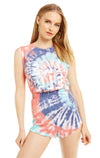 Eat Pie Vintage Muscle Tank | Firecracker tie dye