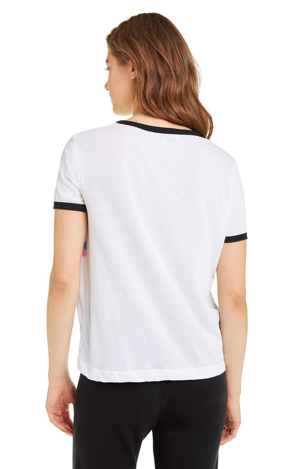 Striped Wildfox Johnny Ringer Tee | Clean White Clean Black