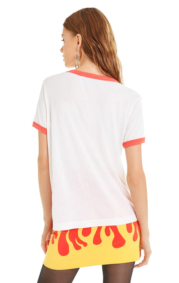 Girls Kick Ass! Johnny Ringer Tee | Vanilla Poppy Red