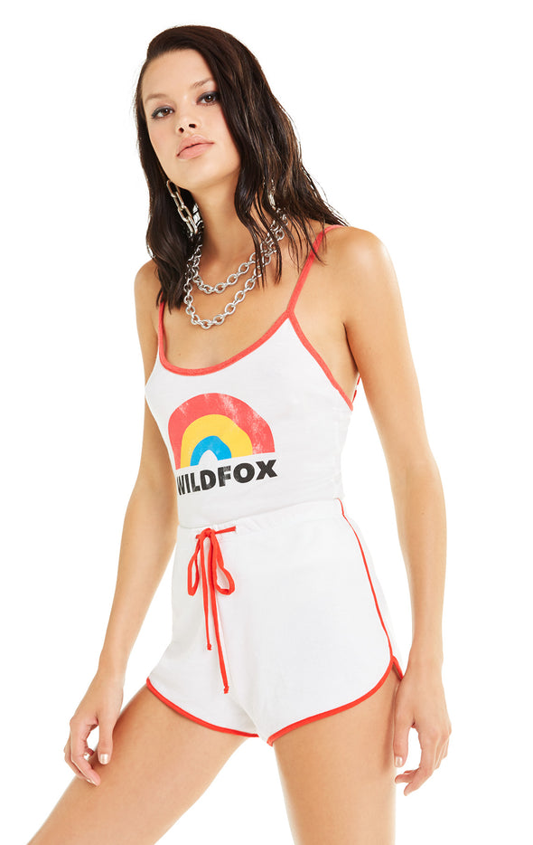 Retro Rainbow Honey Tank | Vanilla Poppy Red