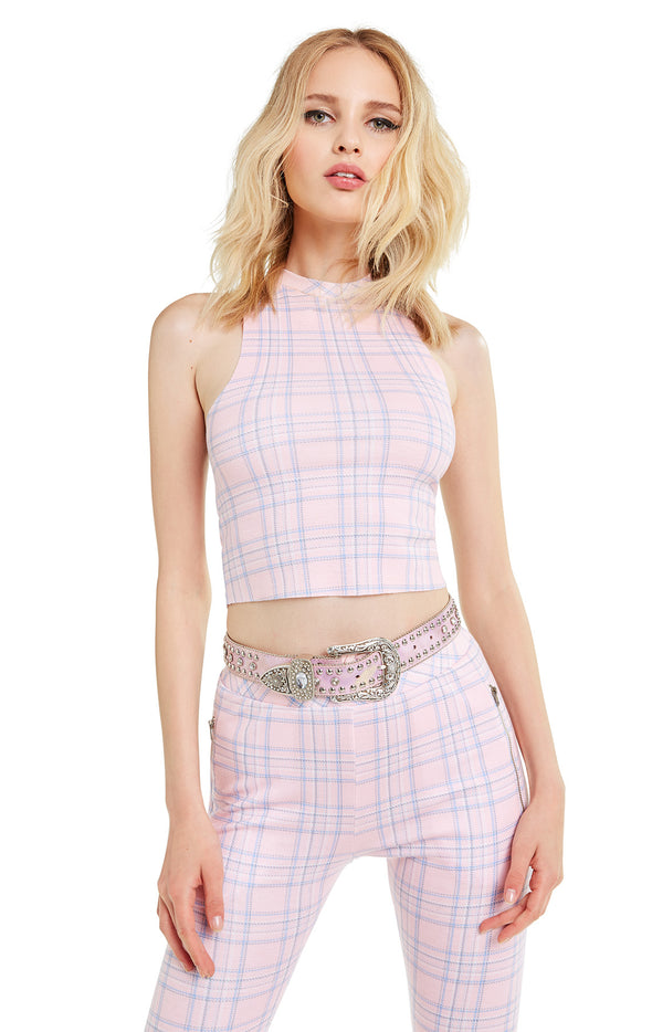 Pastel Plaid Fountain Crop | Multi