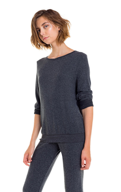 Baggy Beach Jumper | Black