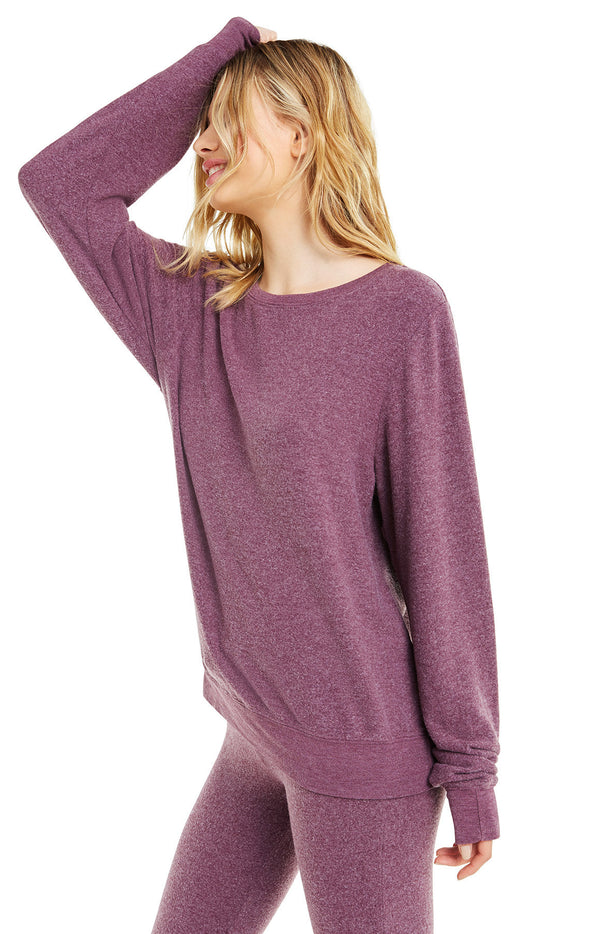 Baggy Beach Jumper | Crushed Berry