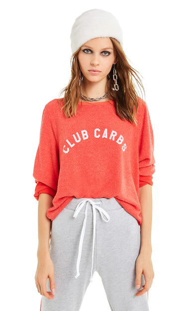 Club Carbs Baggy Beach Jumper | Poppy Red