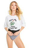 Yule Love It! Baggy Beach Jumper | Clean White