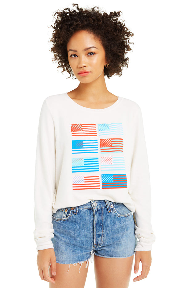 Pop Americana Baggy Beach Jumper | Vintage Lace