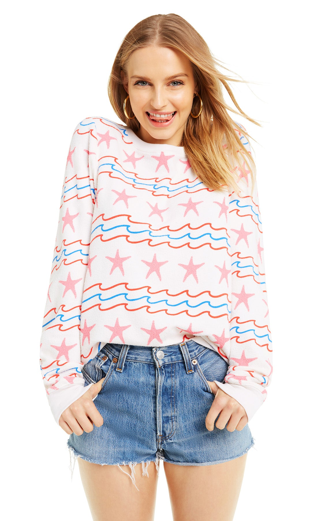 89a896ee49a Women's Sea Stripes Vintage Lace Baggy Beach Jumper – Wildfox Couture