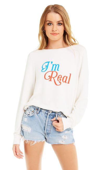 I'm Real Baggy Beach Jumper  |  Vintage Lace