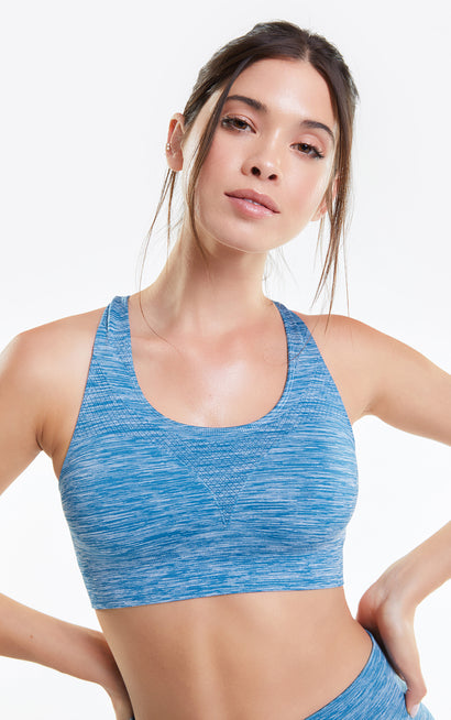 Cindy Top, Racerback Bra, Activewear Bra, Crepe Chevron, Wildfox