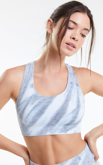 Cindy Top, Racerback Bra, Activewear Bra, Powder Marble, Wildfox