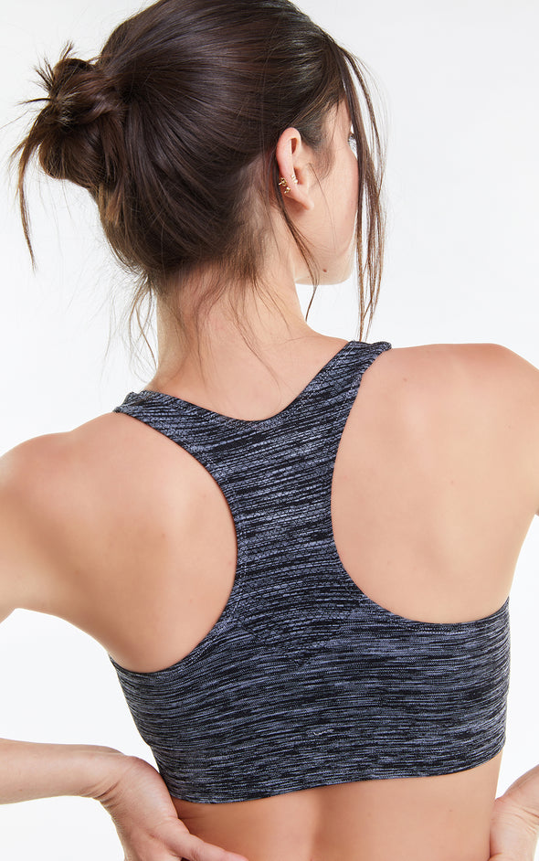 Cindy Top, Racerback Bra, Activewear Bra, Clean Black, Wildfox