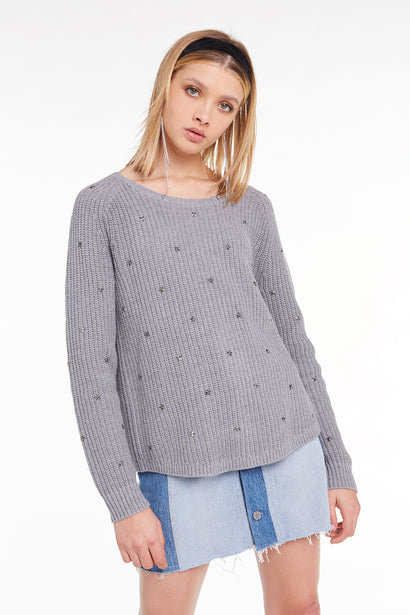 Beaming Star Erika Sweater, Sweatshirt, Sweater, Heather, Wildfox