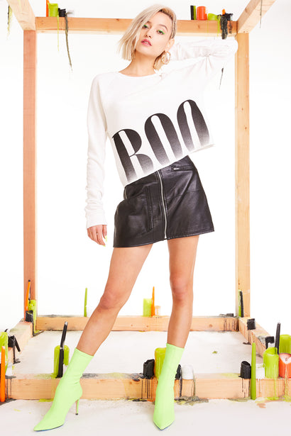 Big Boo Beach House Crop, Cropped Sweatshirt, Sweatshirt, Sweater, Vanilla, Wildfox