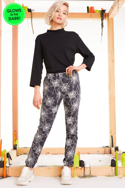 Black Widow Knox Pants, Pants, Sweats, Bottoms, Night, Wildfox